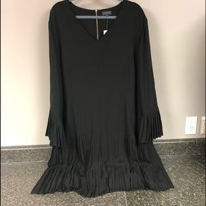NWT The limited collection pleated black dress 24w